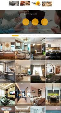 Mẫu website thiết kế nội thất
